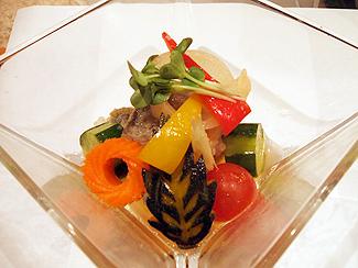 夏野菜と鯵の南蛮風